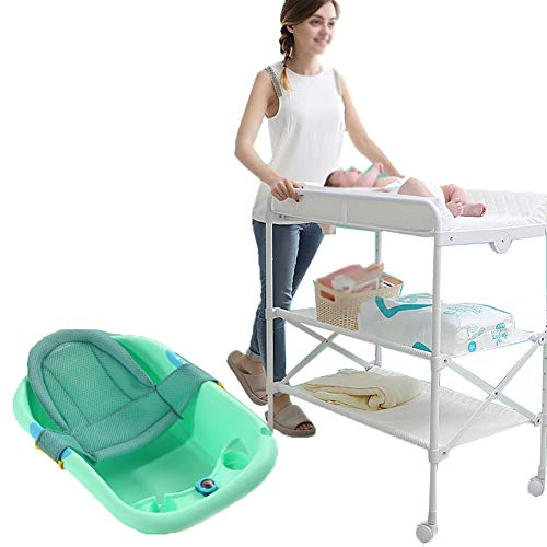 Tables à langer Portable Pliable Multi-Fonction Soins du Bébé Bain pour Nouveau-né Massage Opération Baby Touch, Vert