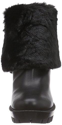Pollini Sca.nod.carro110 Vitel+ecopell.nero, Escarpins femme Noir (Black)