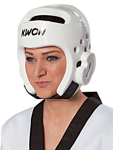 KWON® Taekwondo Kopfschutz 40063 PU CE Weiß WTF Kopfschützer - L