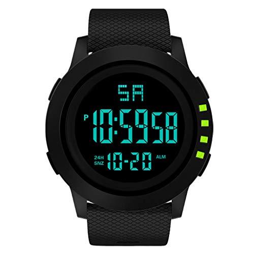 IG Invictus Luxus Men Analog Digital Military Sport LED Waterproof Wrist Watch HONHX Elektronische Uhr 2001F Rhombus Strap Die Grünen Rhombus elektronische Uhren