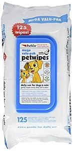 Petkin Mega Valu Pet Wipes, Pack of 125