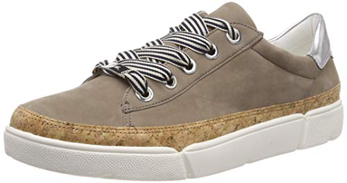 ARA Damen ROM 1214404 Sneaker, Braun (Taupe, Natur/Silber 05), 40 EU