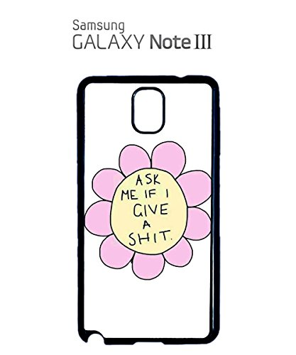 Ask Me If I give a Sh*t Funny Flower Daisy Mobile Phone Case Samsung Galaxy S3 Black Noir