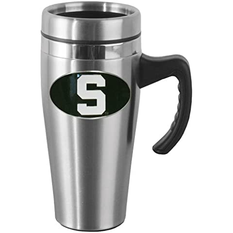 NCAA Michigan State Spartans Steel Travel Mug with Handle