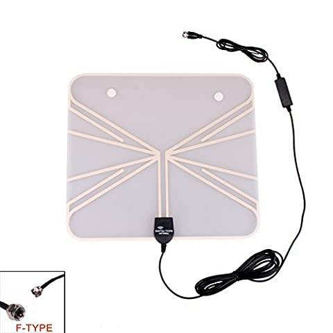 Eximtrade Ultra Thin Digital TV HDTV Antenna ISDB ATSC DVBT VHF UHF Signal DAB FM Radio for Car Home Indoor (F Type)