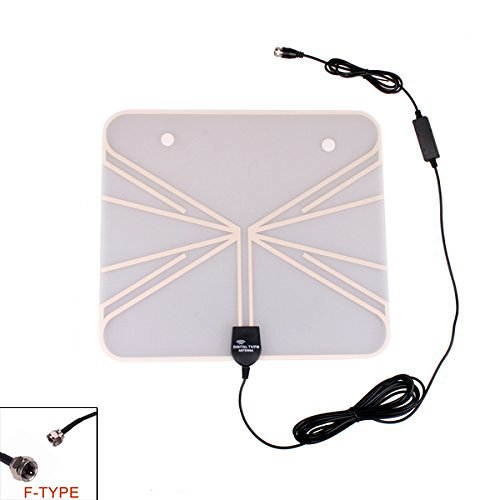 Eximtrade Ultra dünn Digital TV HDTV Fernseher Antenne ISDB ATSC DVBT VHF UHF Signal DAB FM Radio für Auto Zuhause (F-Steckverbinder) Atsc-hdtv-antenne
