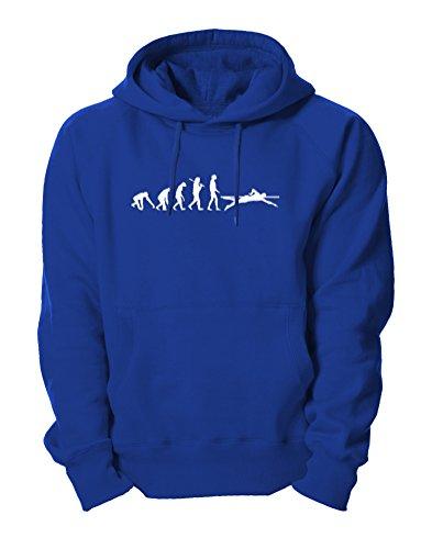 Ma2ca - Evolution Schwimmer Kapuzensweatshirt-royal-l (Lustige Schwimmer Tshirt)