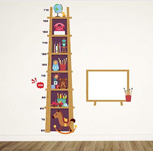 Trojaner Spielzeug Höhe Maßnahme Wandaufkleber Für Kinder Kinderzimmer Dekorationen Hause Leiter Wachstum Chart Decor PVC Wandtattoo 120 * 93 cm (Moderne Wachstum Chart)