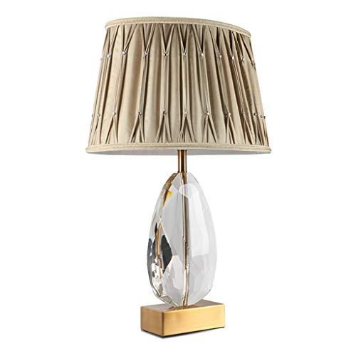 Lampe de bureau Cristal Bureau Moderne Lampes De Table Salon Décor Simple Designs Chambre Lampe De Chevet Tissu Ombre Décoration