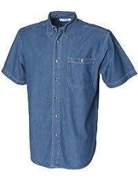 Front Row - Chemise en jean à manches courtes 100% coton - Homme