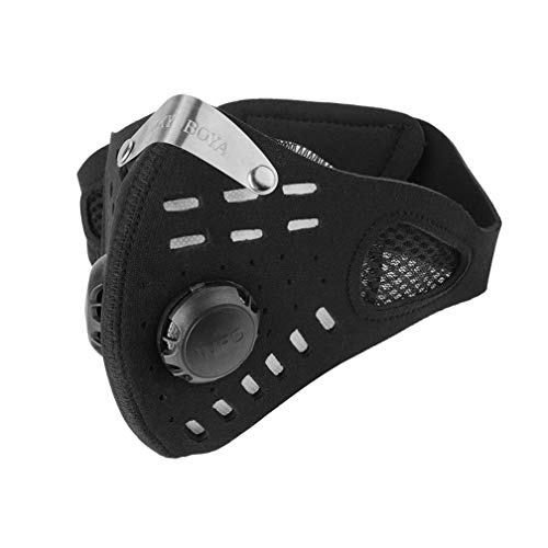 GUKOO Sport Maske Trainingsmaske Herren Damen Staubmaske Atemmaske Verschluß Ventil Feinstaubmaske Fitnessmaske PM2.5 für Radsport