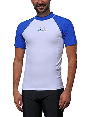 iQ-UV Herren UV 300  Slim Fit Kurzarm T-Shirt, mehrfarbig (Blau /Weiss), XXL (56) -