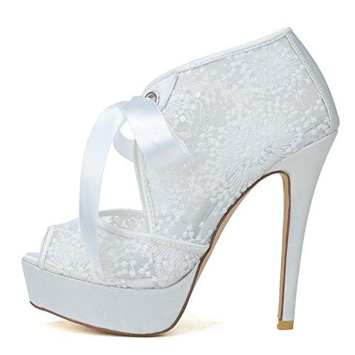 Scarpe Heel Donna Stiletto Scarpe Tacco Alto White