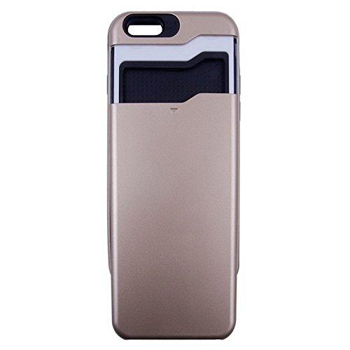 SUN-Cases & Taschen, für das iphone 6 multifunktionalen pc + tpu - kombination mit card slots ( Farbe : Gold ) oro