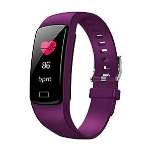 A-Artist Fitness Armband mit Pulsmesser,Wasserdicht Fitness Tracker Farbbildschirm Fitness Uhr Aktivitätstracker Schrittzähler Uhr Smartwatch Damen Herren Anruf SMS Beachten für iOS Android Handy