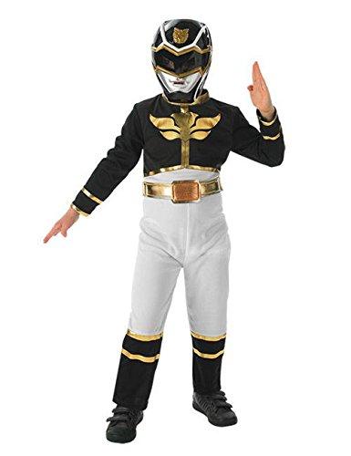 Power Rangers Megaforce Kinder Kostüm Lizenzware schwarz gold weiss S