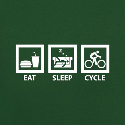 Eat Sleep Cycle - Herren T-Shirt - 13 Farben Flaschengrün