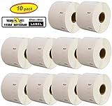Yellow Yeti 10 rouleaux 11354 S0722540 étiquettes 32 x 57mm compatibles pour DYMO LabelWriter 4XL 450 400 330 320 310 Duo/Turbo/Twin Turbo Seiko SLP 450 430 420 400 200 100 | 1000 étiquettes/rouleau