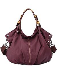 WITERY Women's Large Capacity Waterproof Vintage Canvas Tote Handbag Shoulder Bag