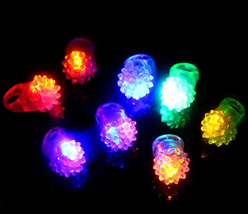 5 x Light Up LED Finger Ringe blinkende Ringe