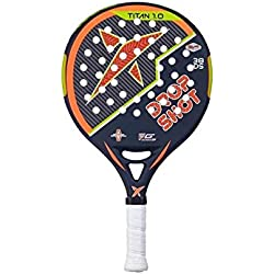 Drop Shot Titan 1.0 - Pala de pádel, color negro / naranja / verde, talla 38 mm