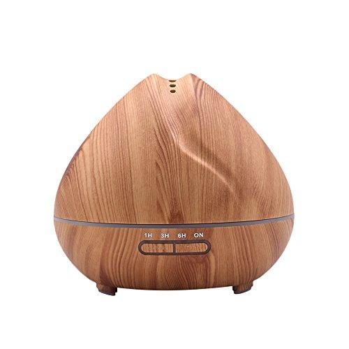 Wascoo Holzkornbefeuchter 400ml ätherisches Öl Diffusor für Yoga, Geschenk, Weihnachten, Büro