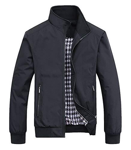 AIEOE - Abrigo Vintage de Hombre Juvenil para Otoño Primavera Chaquet