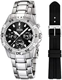 Festina Herren-Armbanduhr XL Chronograph Quarz Edelstahl F16635/4