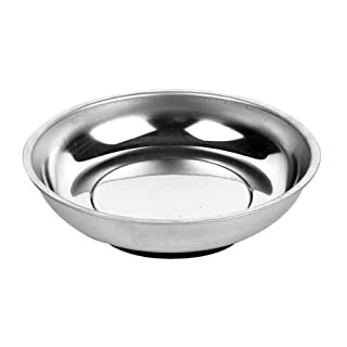 AMPRO T73404 4-Inch Stainless Steel Magnetic Tray Round