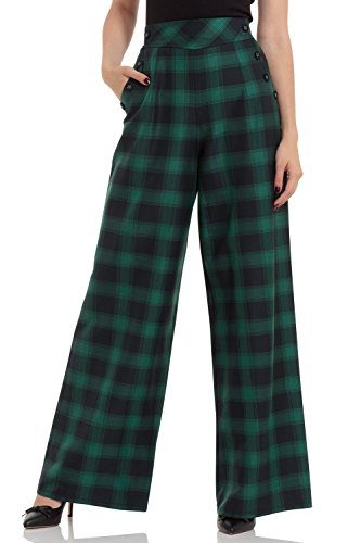 Voodoo Vixen - Carrie Green Plaid Trouser XS