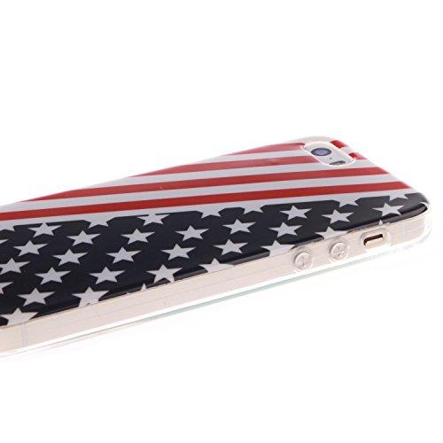 Pour Apple iPhone 6/6S 4.7 Coque,Ecoway Housse étui en TPU Silicone Souple Case Cas Coque Silicone de Protection Anti Choc Anti Poussière Résistant Léger Fit Apple iPhone 6/6S 4.7 –E = mc² Timbre de style britannique