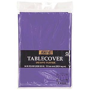 Mantel redondo de plástico Amscan Internacional (púrpura)