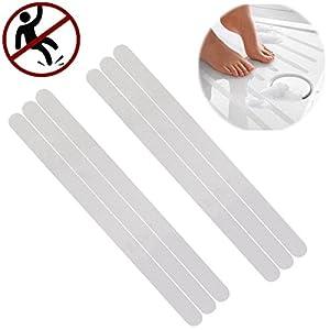 TIANOR 6 pezzi strisce antiscivolo autoadesive per vasca da bagno e doccia - nastri adesivi antiscivolo per doccia e vasca da bagno per scale tappetino anti scivolo, impermeabile(2 x 38cm)