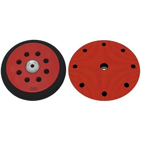 Plato lijador medio para Festool RO150 disco de lijado de VELCRO Ø 150mm - con 8+1-agujeros para la extracción de polvo - suave medio o duro - a su elección -