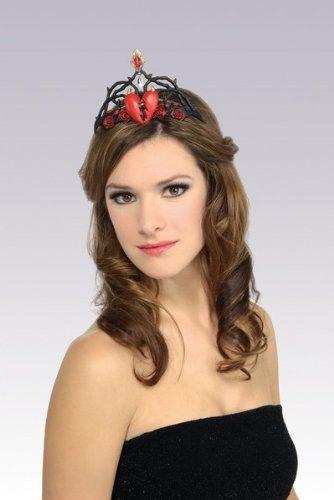 Queen Of Broken Heart Gothic Princess Tiara Fancy Dress by Rubie´s (Of Halloween Queen Hearts)