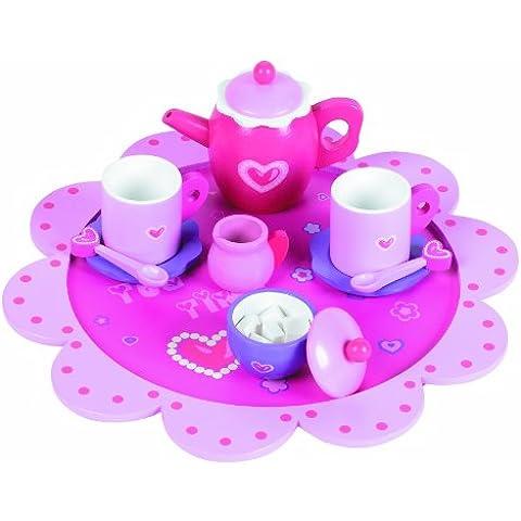 Tidlo - Juego de té (madera), color rosa