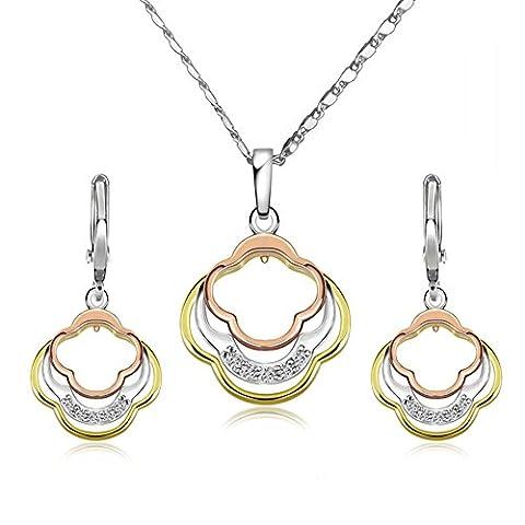 Diamond necklace/Gemstone earrings/ Bohemian/Set(necklack / earrings)-A