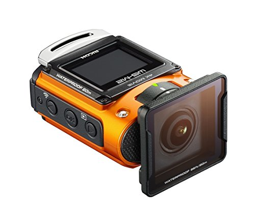 Ricoh WG-M2 kompakte und leichte Actioncam (4K-Video, 204 Grad Ultraweitwinkel-Objektiv) orange - 2