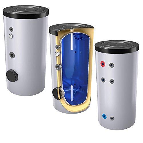 400 Liter emaillierter Warmwasserspeicher / Trinkwasserspeicher, ohne Wärmetauscher, inkl. Isolierung, Magnesiumanoden und Thermometer