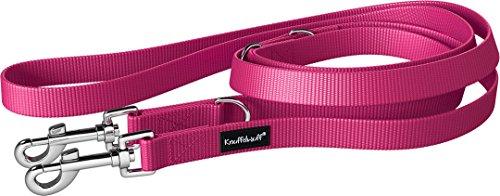 Knuffelwuff 13949-014 Nylon Hundeleine Führleine Active 210cm, 2,0cm Pink