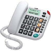 Maxcom KXT480BI - Teléfono fijo, color blanco