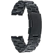 TRUMiRR reloj de acero inoxidable Banda plegable de la hebilla de la correa para Motorola Moto 360 1 1 ª generación de 2014, con el removedor del acoplamiento mejorada y la barra del resorte