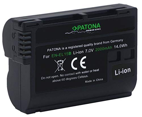 PATONA Premium Ersatz für Akku Nikon EN-EL15b