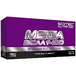 SCITEC Nutrition Mega BCAA 1400, 120 kapseln, 1er Pack