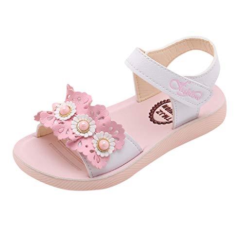 Precioul Mädchen Prinzessin Schuhe Perlen Sandale Festliche Kinder Halbschuhe Hochzeit Kostüm Ballerinas Bow Dekor Sonnenblume