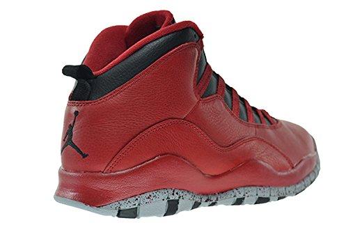 Nike Air Jordan 10 Retro 30th, Chaussures de Sport Homme gym red/black-wolf grey