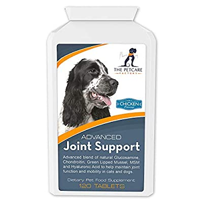 Advanced Joint Support Supplement For Dogs, With Powerful Glucosamine, Chondroitin, Green Lipped Mussel, MSM, Curcumin & Hyaluronic Acid, Human Grade Ingredients, 120 Tablets, UK Manufactured from The Petcare Factory