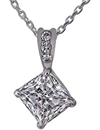 Clara sterling Silver Swarovski Studded The Princess Pendant For Women