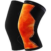 Rodilleras Cálidas Rodilleras Calzadas para Hombres y Mujeres Equipo Deportivo de protección Antideslizante Polainas (Tamaño : L)