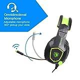 SADES SA708 verdrahtet 3,5 mm Audio Stecker Gaming Headset Kopfhörer Gaming mit Mikrofon (grün) - 6